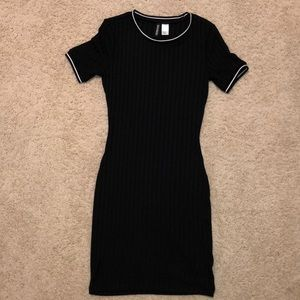 Divided H&M Ribbed Black Dress